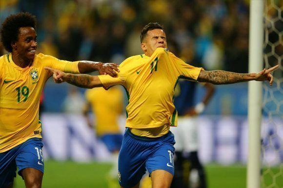 Coutinho puso el 2-0 contra Ecuador. Foto tomada de sportyou.es.