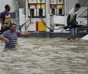 El huracán María ha dejado graves inundaciones a su paso por Puerto Rico Foto:Carlos Giusti / AP