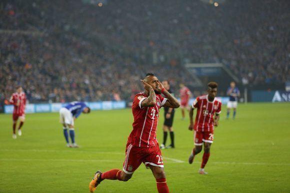 Vidal celebra su gol en el partido. Foto: FCBayernES.