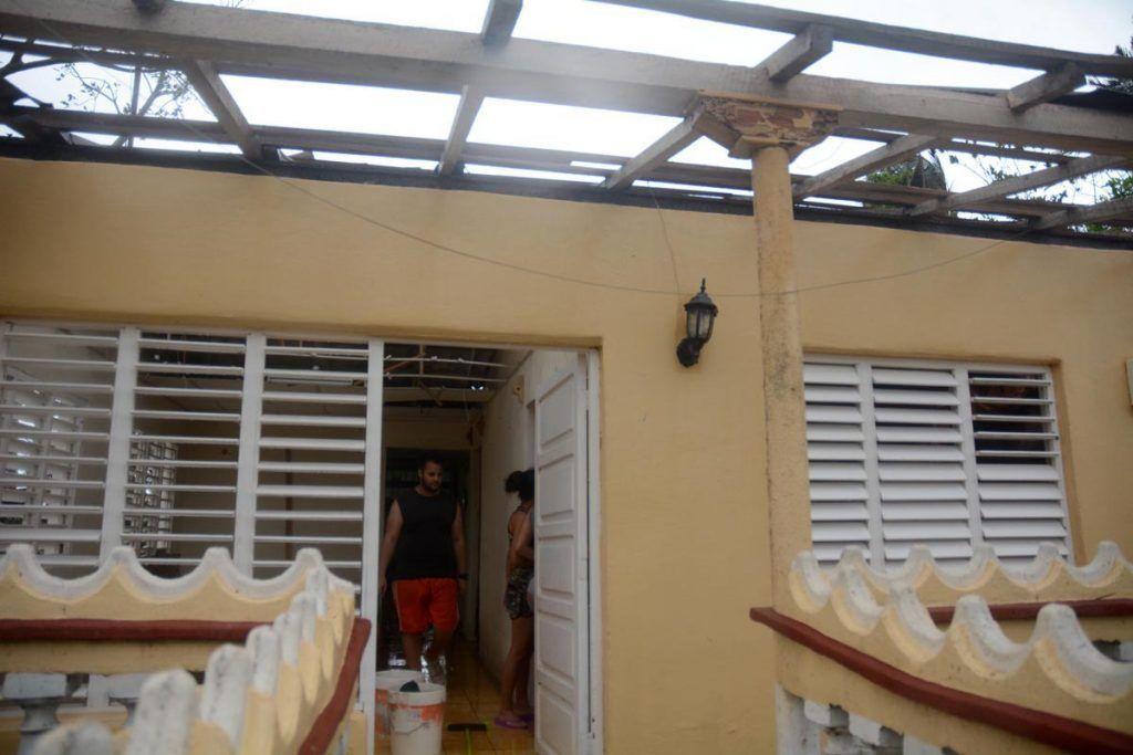 La vivienda fue duramente golpeada por el huracán Irma en Cuba. Foto: Escambray.