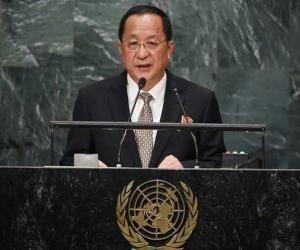 El ministro de Relaciones Exteriores de la República Popular Democrática de Corea (RPDC), Ri Yong-ho. Foto: Agencias.