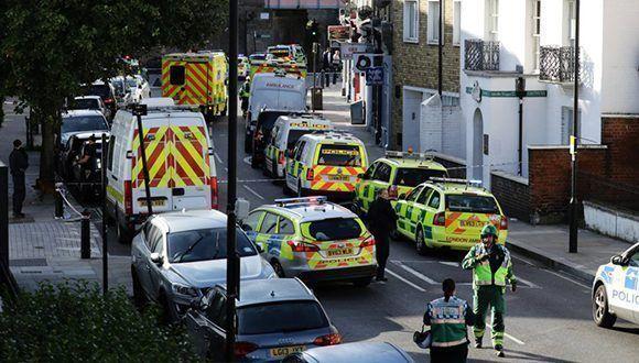 """Policía londinense califica explosión de bomba como """"acto terrorista"""""""