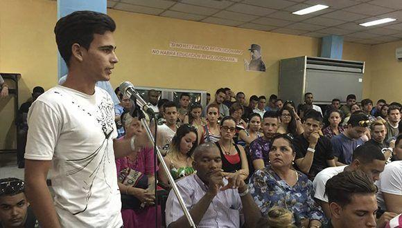 """Audiencia Pública contra el Bloqueo en la Universidad de Camagüey """"Ignacio Agramonte Loynaz"""". Foto: ANPP"""