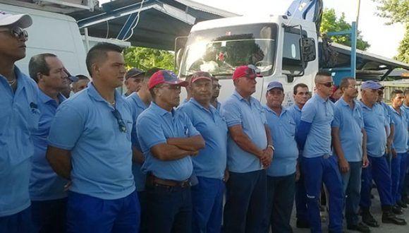 Brigada de la dirección territorial de Etecsa de Las Tunas apoyará recuperación de Ciego de Ávila. Foto: István Ojeda Bello / Periódico 26