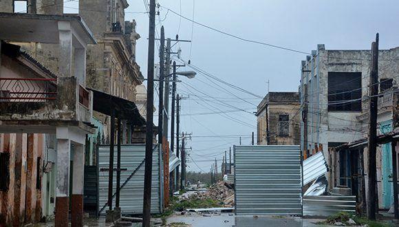 Calma en Caibarién, durante el paso del ojo del huracán Irma por el territorio. Foto: Arelys María Echevarría / ACN