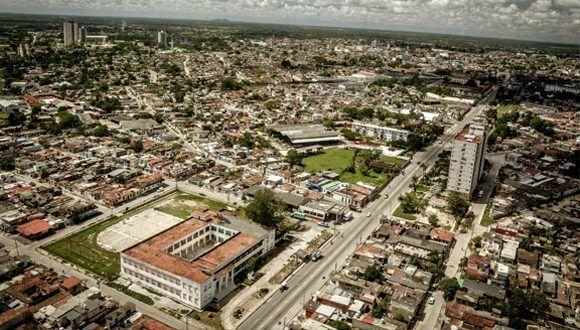Fotografía aérea de la ciudad de Camagüey, Cuba. Foto: Juan Pablo Carreras / ACN