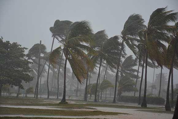 Fuertes vientos se aprecian en la Playa Santa Lucia, del municipio Nuevitas, al paso del huracán Irma por la costa norte de la provincia Camagüey, Cuba, el 8 de septiembre d e2017. Foto: Rodolfo Blanco/ ACN.