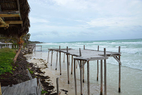 Playa del  Hotel Trip Cayo Coco, en Ciego de Ávila, la mañana del 8 de septiembre de 2017, ante la inminencia del huracán Irma.  ACN  FOTO/Osvaldo GUTIÉRREZ GÓMEZ/sdl