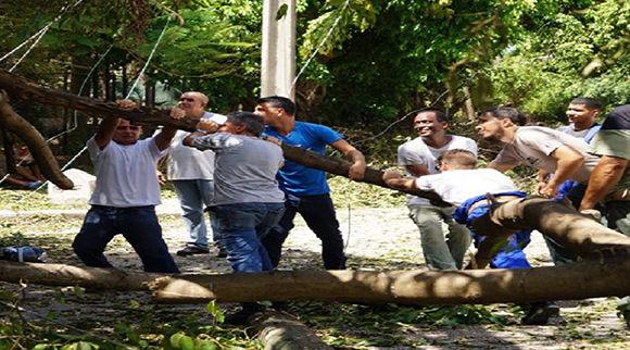 Trabajadores de la empresa Citmatel en plena recuperación. Foto: Citmatel.