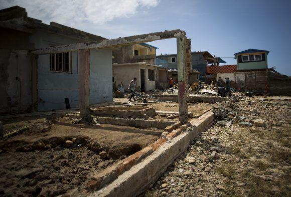 Cojimar después de Irma. Foto: Irene Pérez/ Cubadebate.