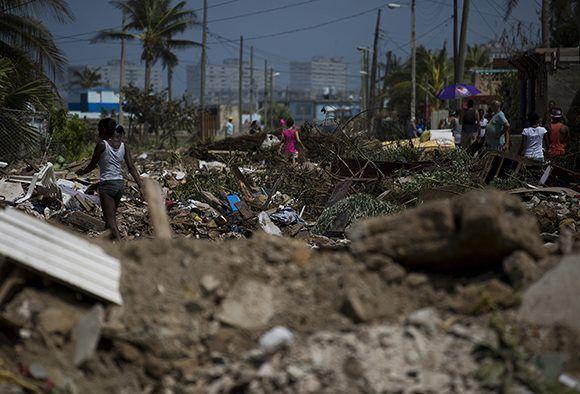 Cojímar, una de las localidades habaneras más afectadas por el huracán Irma. Foto: Irene Pérez/ Cubadebate