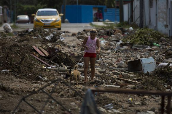 Cojímar tras Irma. Foto: Irene Pérez/ Cubadebate.