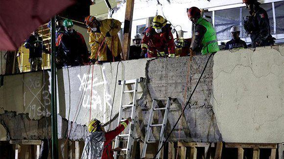 El Colegio Enrique Rébsamen se convirtió en ícono del desastre que ocurrió en México tras el terremoto de 7.1 que provocó más de 300 muertos. Foto: TN.