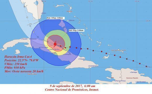 Irma continues with force by the central region of Cuba