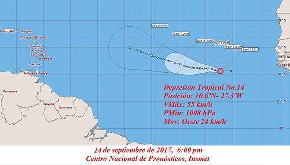 Informan sobre la formación de la XIV depresión tropical