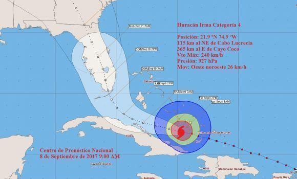 huracán irma por oriente de cuba