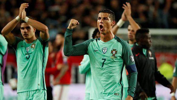 Portugal ganó a Hungría con un gol de André Silva a pase de Cristiano Ronaldo. Foto tomada de AS.