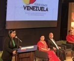 La presidenta de la Asamblea Constituyente, Delcy Rodríguez clausuró la jornada de solidaridad Todos somos Venezuela . Foto: @MundiallosAndes / Twitter