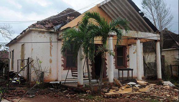Esmeralda, uno de los municipios de Camagüey más afectados tras paso del huracán Irma. Foto: Orlando Durán Hernández