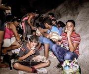 Una obra protectora de las Fuerzas Armadas Revolucionarias se convirtió en albergue para residentes en zonas de peligro en el municipio de Gibara. Foto: Juan Pablo Carreras/ ACN.