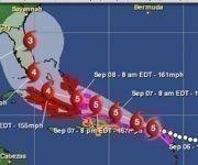 Posible evolución del huracán Irma según el portal especializado, Aeris Weather.