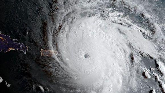 Irma a su paso por el Caribe. Foto: NASA.