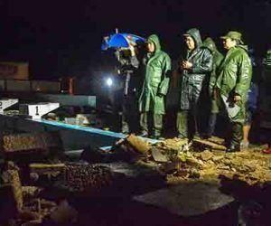 El Consejo de Defensa Provincial de Holguín evaluó los daños en Gibara tras el paso del huracán Irma. Foto: Juan Pablo Carreras/ ACN.