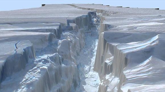 La grieta del glaciar Pine Island, Antártida.