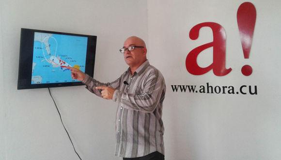 Meteorólogo Jorge Proenza. Foto: Ahora.