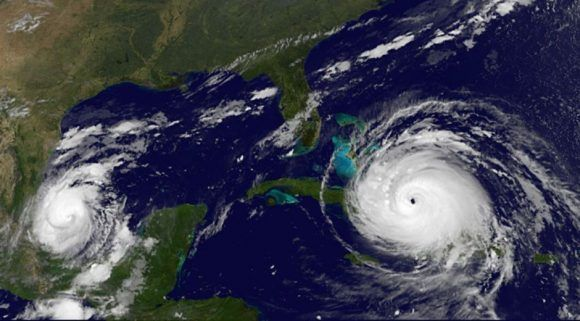 Irma sobre Cuba. Imagen: GOES/ Vía INSMET Cuba.