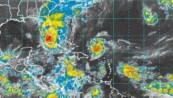 Irma se aleja de Cuba, última imagen del satélite, 10:00 a.m. Imagen: INSMET.