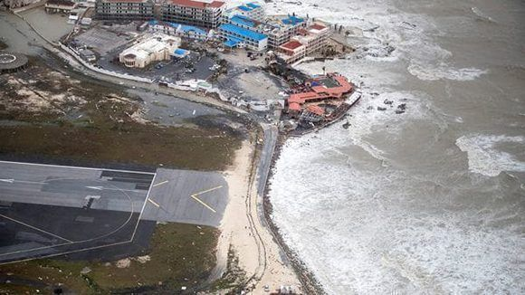 Paso del Huracán Irma por la Isla de San Martín. Foto: Tomada de Reuters.