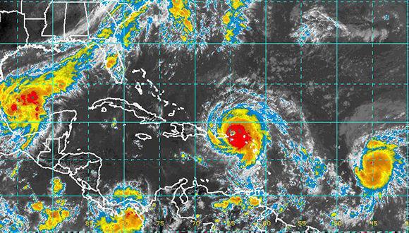 Este intenso huracán debe estar afectando directa o indirectamente a la región oriental de Cuba en las próximas 48 a 72 horas. Imagen: INSMET.