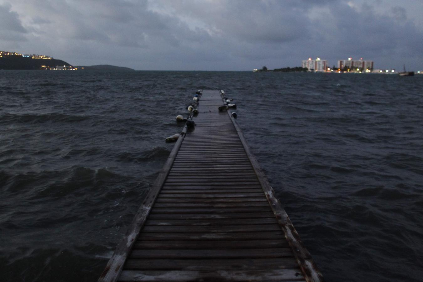 El huracán Irma llegará hoy a Puerto Rico. Foto: AFP.