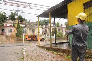 El sector eléctrico fue de los más afectadosen Artemisa. Fotos: Otoniel Márquez/ El Artemiseño.