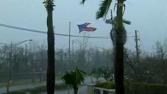 """""""María"""" golpea Puerto Rico. Foto: @tommiesunshine"""