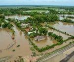 En el municipio de Cacocum, desbordamiento del río Holguín, tras las intensas lluvias asociadas al paso del Huracán Irma. Foto: Juan Pablo Carreras/ ACN.