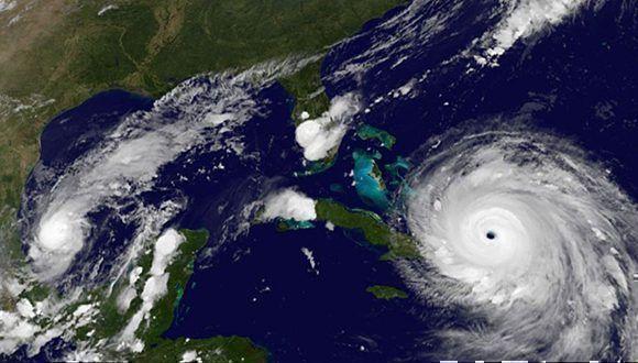 El huracán Irma se acerca a Cuba, el ojo pasará por la costa norte del archipiélago. Imagen: GOES/ Vía INSMET Cuba.