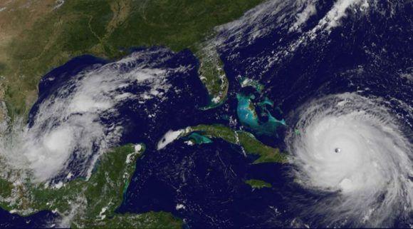 Las primeras bandas de nublado del huracán Irma ya están sobre Guantánamo. Imagen: GOES/ Vía INSMET Cuba.