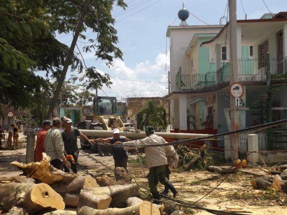 Las huellas de Irma en Jaruco. Foto: Radio Jaruco