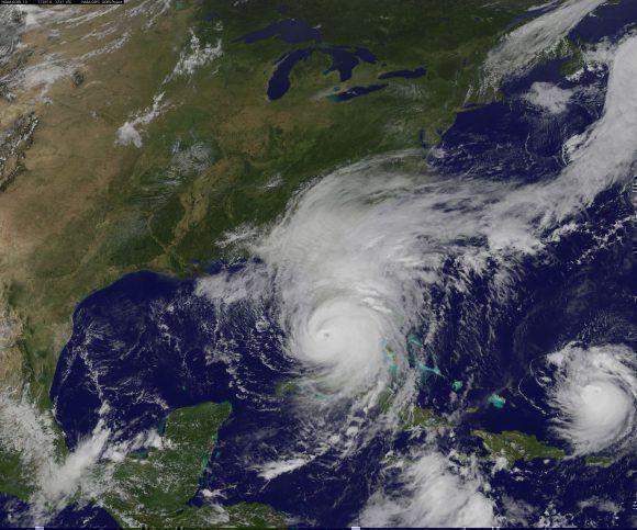 Imágen satalital del huracán Irma. Foto: NASA.