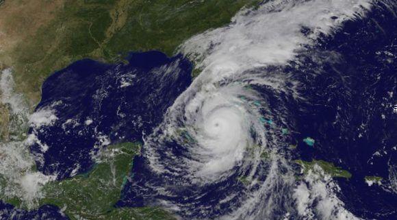 Ubicación de Irma a las 14:36 de hoy. Imagen: GOES/ Vía INSMET Cuba.