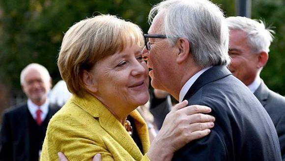 """Juncker felicita a Merkel y dice que la UE necesita un gobierno alemán """"fuerte"""". Foto: EFE."""