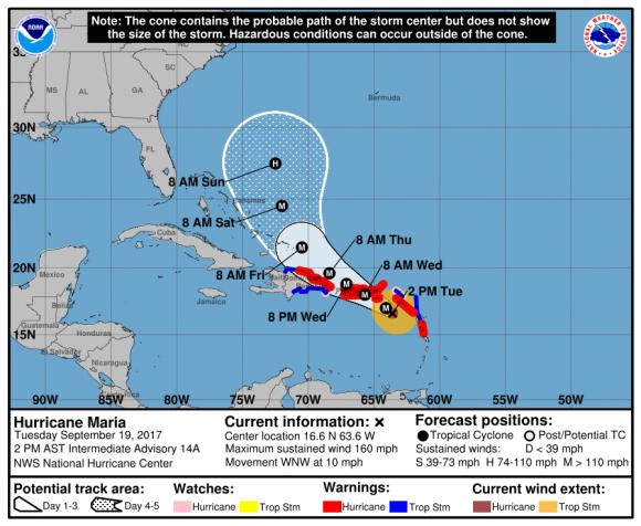 Fuente: Centro Nacional de Huracanes de EEUU