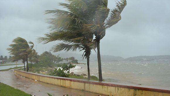 La bahía de Guanima en la ciudad de Matanzas bajo los efectos del huracán Irma. Foto: Roberto Jesús Hernández / ACN