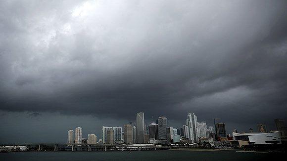 Miami antes de la llegada del huracán Irma. Florida, EE.UU., 9 de septiembre de 2017. Foto: Reuters. Carlos Barria / Reuters