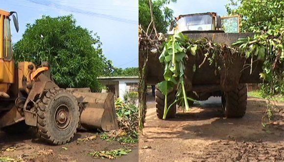 Más de 2 mil metros cúbicos de desechos sólidos se han recogido en la ciudad de Moa.  Foto: Telecentro Moa TV