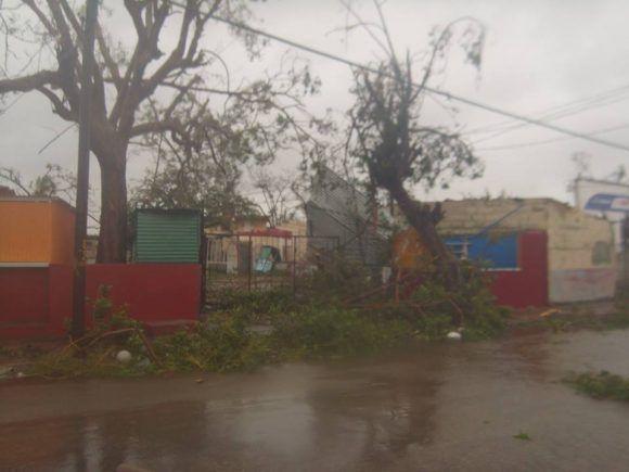 Así quedó Morón en Ciego de Ávila tras el paso de Irma.Foto: Leonel Iparraguirre González/ Facebook.