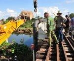La rotura de la conductora de agua desde el río Yayabo para la zona de Colón y parte de Jesús María quedó resuelta desde el pasado domingo. Foto: Vicente Brito/ Escambray.
