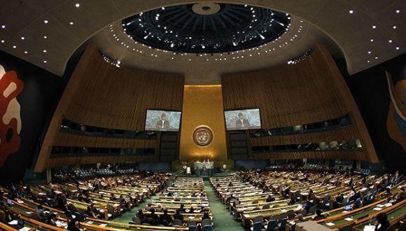 Asamblea General de la ONU. Foto: Agencia.